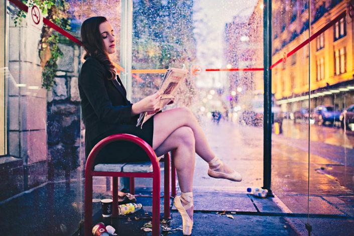 A Ballerina's Tale [At the bus stop]