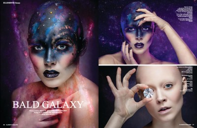 Conceptual Beauty Editorial for the March Issue of Elléments Magazine Book I Model: Kim Scott Makeup/Hair/FX: Steph Miramontes