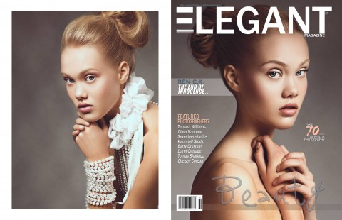 Beauty Editorial for Elegant Magazine Jan 2014 Model: Chloe L. @ Montage Models Stylist: Diana Stéphanie Gadie for Metys by Diana Gadié Makeup: Marika D'Auteuil , Makeup Artist Hair: Jessica Hoff Retouch: Anna Ciosek Photography/Art-Direction: Ben C.K.