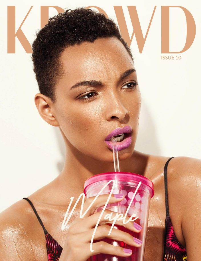 Beauty editorial cover story for KROWD Magazine